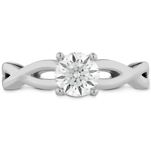 DESTINY TWIST SOLITAIRE ENGAGEMENT RING
