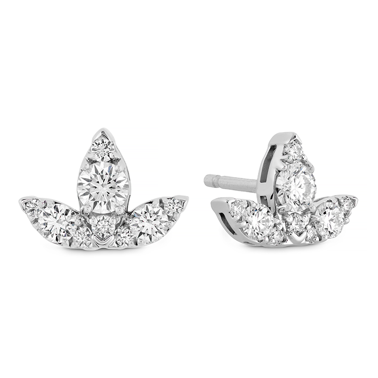 AERIAL TRIPLE DIAMOND STUD EARRINGS - S view 1