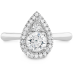 DESTINY TEARDROP SHAPE HALO ENGAGEMENT RING view 1