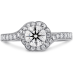 LORELEI BLOOM ENGAGEMENT RING-DIAMOND BAND view 1