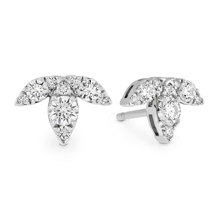 AERIAL TRIPLE DIAMOND STUD EARRINGS - S view 2