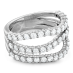 ATLANTICO TRIPLE WAVE DIAMOND RING view 2