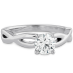 DESTINY TWIST SOLITAIRE ENGAGEMENT RING view 3