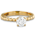 HOF SIGNATURE BEADED SOLITAIRE ENGAGEMENT RING view 3