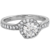 LORELEI BLOOM ENGAGEMENT RING-DIAMOND BAND view 3